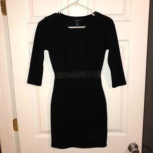 Forever 21 black dress w/ mesh cutout Small